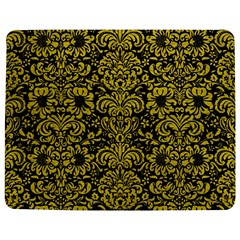 Damask2 Black Marble & Yellow Leather (r) Jigsaw Puzzle Photo Stand (rectangular)