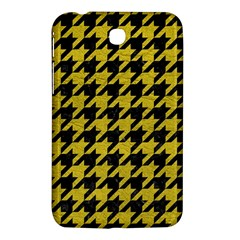 Houndstooth1 Black Marble & Yellow Leather Samsung Galaxy Tab 3 (7 ) P3200 Hardshell Case