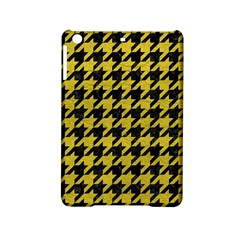 Houndstooth1 Black Marble & Yellow Leather Ipad Mini 2 Hardshell Cases