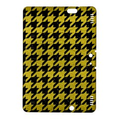 Houndstooth1 Black Marble & Yellow Leather Kindle Fire Hdx 8 9  Hardshell Case