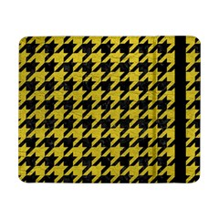 Houndstooth1 Black Marble & Yellow Leather Samsung Galaxy Tab Pro 8 4  Flip Case