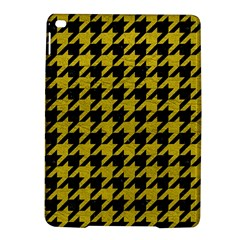 Houndstooth1 Black Marble & Yellow Leather Ipad Air 2 Hardshell Cases