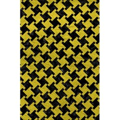 Houndstooth2 Black Marble & Yellow Leather 5 5  X 8 5  Notebooks