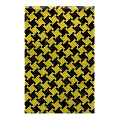 Houndstooth2 Black Marble & Yellow Leather Shower Curtain 48  X 72  (small)