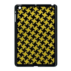 Houndstooth2 Black Marble & Yellow Leather Apple Ipad Mini Case (black)