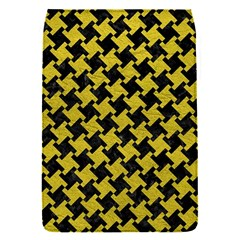 Houndstooth2 Black Marble & Yellow Leather Flap Covers (s)