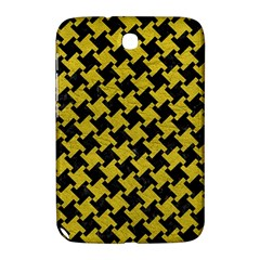 Houndstooth2 Black Marble & Yellow Leather Samsung Galaxy Note 8 0 N5100 Hardshell Case
