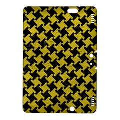 Houndstooth2 Black Marble & Yellow Leather Kindle Fire Hdx 8 9  Hardshell Case