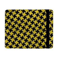 Houndstooth2 Black Marble & Yellow Leather Samsung Galaxy Tab Pro 8 4  Flip Case
