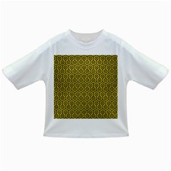 Hexagon1 Black Marble & Yellow Leather Infant/toddler T Shirts