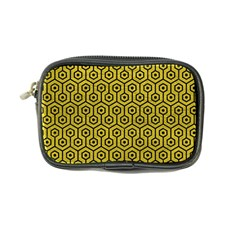 Hexagon1 Black Marble & Yellow Leather Coin Purse