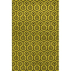 Hexagon1 Black Marble & Yellow Leather 5 5  X 8 5  Notebooks