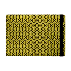 Hexagon1 Black Marble & Yellow Leather Apple Ipad Mini Flip Case