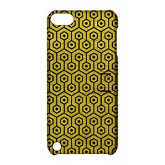 Hexagon1 Black Marble & Yellow Leather Apple Ipod Touch 5 Hardshell Case With Stand