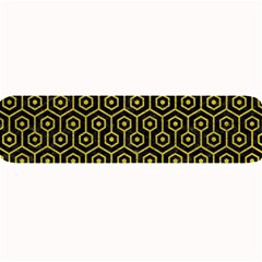 Hexagon1 Black Marble & Yellow Leather (r) Large Bar Mats