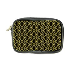 Hexagon1 Black Marble & Yellow Leather (r) Coin Purse