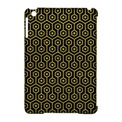 Hexagon1 Black Marble & Yellow Leather (r) Apple Ipad Mini Hardshell Case (compatible With Smart Cover)