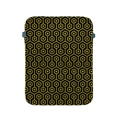 Hexagon1 Black Marble & Yellow Leather (r) Apple Ipad 2/3/4 Protective Soft Cases