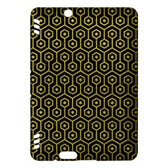 Hexagon1 Black Marble & Yellow Leather (r) Kindle Fire Hdx Hardshell Case