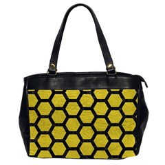 Hexagon2 Black Marble & Yellow Leather Office Handbags (2 Sides)