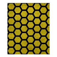 Hexagon2 Black Marble & Yellow Leather Shower Curtain 60  X 72  (medium)