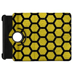 Hexagon2 Black Marble & Yellow Leather Kindle Fire Hd 7
