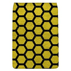 Hexagon2 Black Marble & Yellow Leather Flap Covers (l)