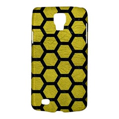 Hexagon2 Black Marble & Yellow Leather Galaxy S4 Active