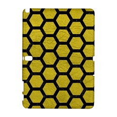 Hexagon2 Black Marble & Yellow Leather Galaxy Note 1