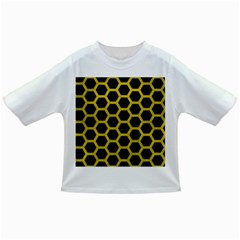 Hexagon2 Black Marble & Yellow Leather (r) Infant/toddler T Shirts