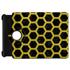 Hexagon2 Black Marble & Yellow Leather (r) Kindle Fire Hd 7
