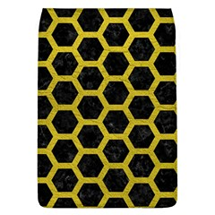 Hexagon2 Black Marble & Yellow Leather (r) Flap Covers (l)