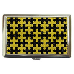 Puzzle1 Black Marble & Yellow Leather Cigarette Money Cases