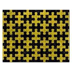 Puzzle1 Black Marble & Yellow Leather Rectangular Jigsaw Puzzl