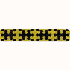 Puzzle1 Black Marble & Yellow Leather Small Bar Mats