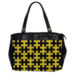 Puzzle1 Black Marble & Yellow Leather Office Handbags (2 Sides)