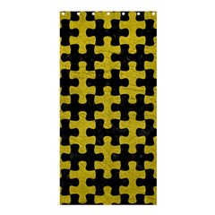 Puzzle1 Black Marble & Yellow Leather Shower Curtain 36  X 72  (stall)