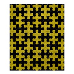 Puzzle1 Black Marble & Yellow Leather Shower Curtain 60  X 72  (medium)