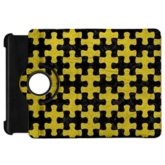 Puzzle1 Black Marble & Yellow Leather Kindle Fire Hd 7