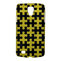 Puzzle1 Black Marble & Yellow Leather Galaxy S4 Active