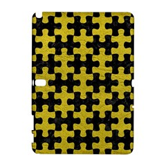 Puzzle1 Black Marble & Yellow Leather Galaxy Note 1