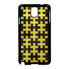Puzzle1 Black Marble & Yellow Leather Samsung Galaxy Note 3 Neo Hardshell Case (black)