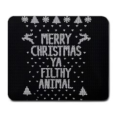 Ugly Christmas Sweater Large Mousepads