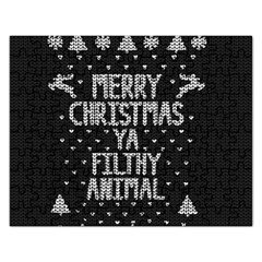 Ugly Christmas Sweater Rectangular Jigsaw Puzzl