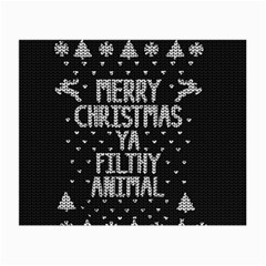 Ugly Christmas Sweater Small Glasses Cloth