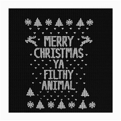 Ugly Christmas Sweater Medium Glasses Cloth