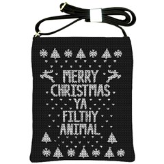 Ugly Christmas Sweater Shoulder Sling Bags