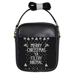 Ugly Christmas Sweater Girls Sling Bags