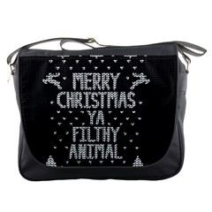 Ugly Christmas Sweater Messenger Bags