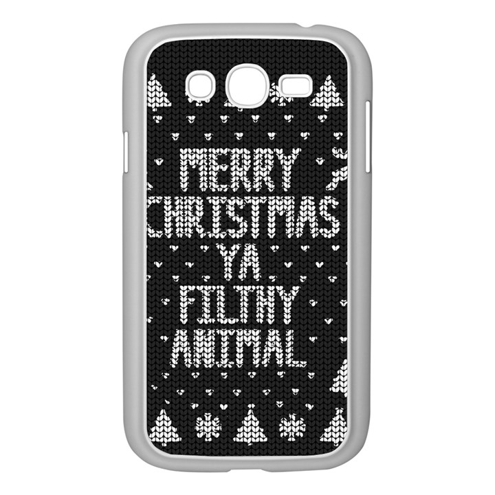 Ugly Christmas Sweater Samsung Galaxy Grand DUOS I9082 Case (White)